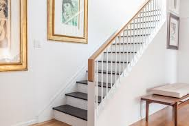 decor art painting design ideas with stair rails plus white wall