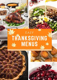 easy thanksgiving menus recipetin eats