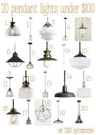 Pendant Light For Kitchen 20 Great Pendant Lights Under 100 Kitchen Lighting 320