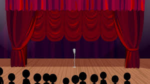 Curtain Cartoon by Rising Curtains Cartoon Stage Background Motion Background
