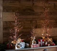 Decorative Trees With Lights Decorative Christmas Lights Pottery Barn