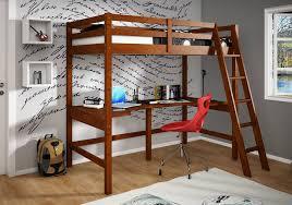 Build A Loft Bed With Desk Bedroom Excellent Full Loft Bed With Desk Over The Bed Desk View