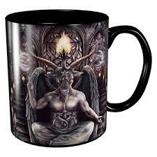 baphomet mug occult and dark art