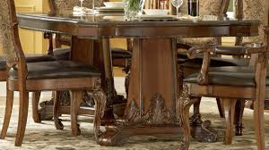 double pedestal dining table distressed loccie better homes