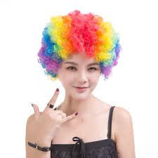 halloween wigs for men colorful afro rainbow wig for women men kids halloween u2013 halloween