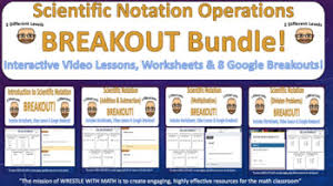 scientific notation operations u2013 breakout bundle with google forms