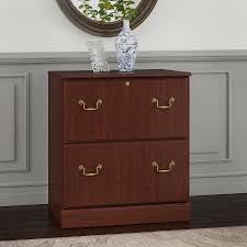 Lateral File Cabinets Bush Furniture Saratoga Lateral File Cabinet In Harvest Cherry