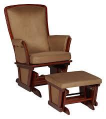 Glider Chair With Ottoman Delta Children Vintage Espresso Upholstered Glider And Ottoman