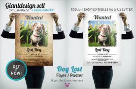 13 psd lost dog flyer templates free u0026 premium templates