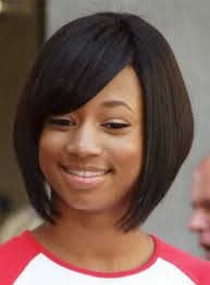pic of black women side swept bangs and bun hairstyle short inverted bob hairstyles for black women with side bangs