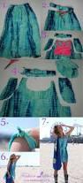 diy fashion idea turn an oversized skirt into a no sew dress