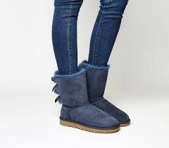 ugg bailey bow navy blue sale ugg bailey bow ii calf boot navy suede ankle boots