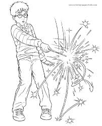 harry potter color coloring pages kids cartoon
