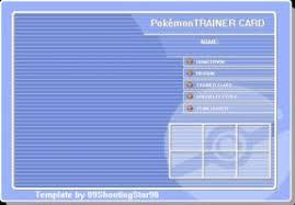 Pokemon Trainer Card Designer Trainer Card Template By Shootingstar03 On Deviantart