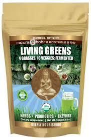 living greens probiotics organic green drink mix by medicinal foods