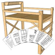 queen size loft bed plans tall height op loftbed