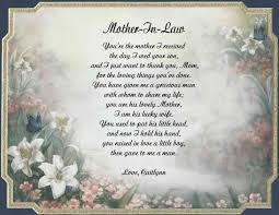 mother in law poems happy birthday to mother in law