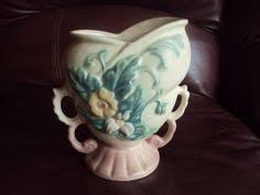 Hull Pottery Vase Vtg Hull Art Pottery Vase Magnolia Flower Bud Pink Green 8 1 2