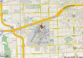 detroit metro airport map map of westin detroit metro airport detroit