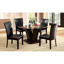 glass top dining table set 4 chairs awesome on rustic dining table