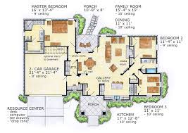 ranch house floor plan conceptual home design focuses on open floor plan