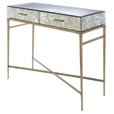 glass mirrored console table console tables