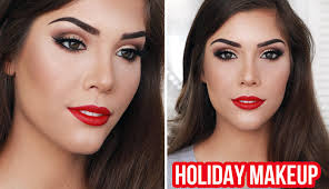 beauty video tutorials holiday glam makeup tutorial winged liner brown eyes
