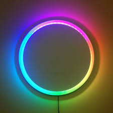 led strip lights projects a clock made with a 60 led ws2811 strip frame made from mdf and
