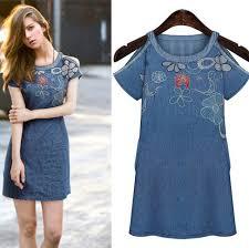 cheap denim dresses plus size clothing for large ladies
