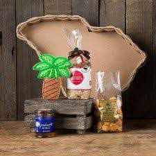 carolina gift baskets palmetto breakfast comes in a south carolina shaped basket with