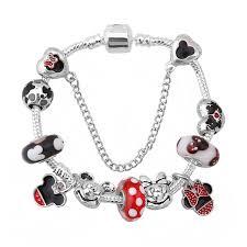 european pandora bracelet images Hot european style mickey minnie love charm bracelets women jpg