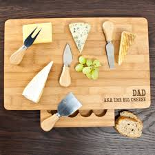 personalized cheese board set the big cheese large bamboo cheese board treat republic
