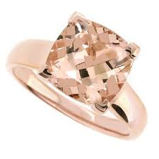 pink morganite 3 58ct pink morganite diamond solitaire engagement ring