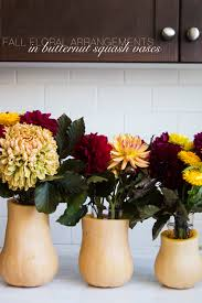 Fall Floral Arrangements Fall Floral Arrangements In Butternut Squash Vases The