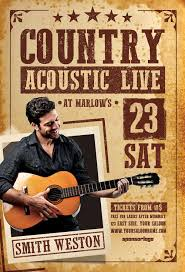 template flyer country free ffflyer country acoustic night flyer template flyer for club and