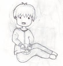sketch little boy playing ball talaz