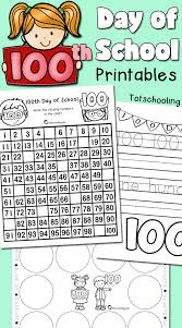 100th day of printables totschooling toddler preschool