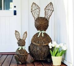 Cheap Easter Outdoor Decorations by Best 25 Outdoor Easter Decorations Ideas On Pinterest Happy