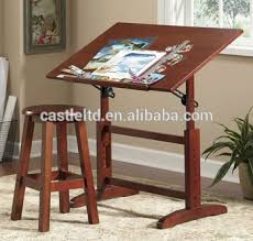 Studio Designs Drafting Tables Solid Wood Gorgeous Drafting Table And Stool Set Vintage Look