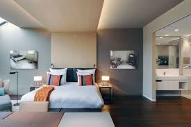 Schlafzimmer Bank Grau Schlafzimmer Grau Ein Modernes Schlafzimmer Interior In Grau