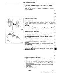 nissan maxima power steering pump nissan maxima 1994 a32 4 g steering system workshop manual