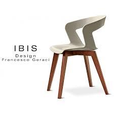 chaise design chaise design coque piétement bois ibis assise plastique couleur