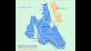 Kefalonia Greece Map by Katelios Skala Kefalonia Youtube