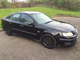 bargain on 03 reg saab 9 3 turbo fitted black alloy mot