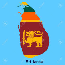 Map Of Sri Lanka Vector Map Of Sri Lanka With Flag Texture Royalty Free Cliparts