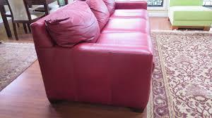 Pink Sleeper Sofa by Queen Sleeper Sofa Distressed Leather Merlo W Dark Cherry Feet