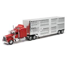 kenworth w900 model truck 1 32 scale kenworth w900 pot belly livestock truck u2013 new ray toys