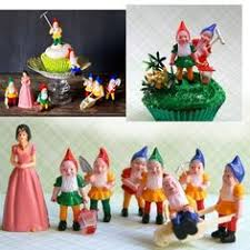 Vintage Snow White And 7 Dwarves Cake Topper Or By Newearthvintage