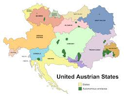 Austria Map Image United Austrian States Map Png Alternative History