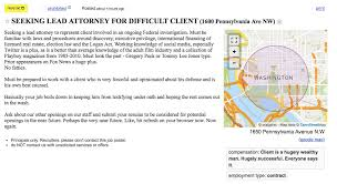 Seeking Hilarious Someone Posted A Hilarious Listing Seeking An Atty For